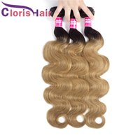 Top Two Tone 1B 27 peruanische Jungfrau-Körper-Wellen Ombre Weave Bundles 3pcs 100% reales Menschenhaar-Colored Honey Blonde Wavy Extensions Angebote