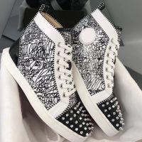 أحذية 2019 Orlato حذاء أحمر أسفل المسامير جديد المدربين الرجال السامية أعلى شقة الأزياء والأحذية الرقص الحزب مع BOX US12.5
