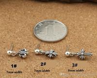 Marca 925 brincos de prata esterlina do vintage americano designer de jóias cruz stud homens brincos antigo prata bonito charme pingente quente