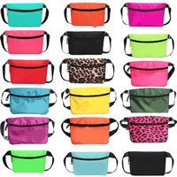 Pink Fanny Pack Pink Letter Waist Belt Bag Fashion Beach Tra...