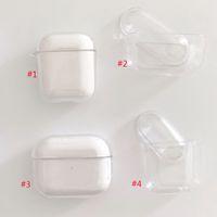 PC Limpar Hard Case Transparente capa protetora para a Apple Airpods sem fios Bluetooth Headphone Drop-prova padrão de qualidade superior fone de ouvido Tampa