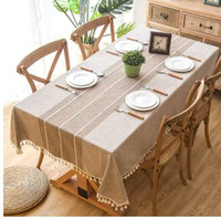 Modern Decorative Table Cloth Home Kitchen Table Cloths Tassel Iace Rectangle Tablecloth Party Banquet