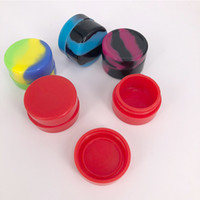 Récipient en silicone pot de cire concentré 5ML 3ML pot sphérique de silicium pour récipient en cire pour cire pot de silicone Dab non-solide couleur