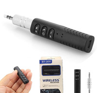 3.5mm 블루투스 4.1 자동차 키트 오디오 수신기 FM 송신기 음악 어댑터 무선 자동차 Aux 핸즈프리 아이폰 삼성 스마트 폰