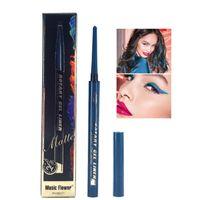24H Uzun Otomatik Eyeliner Pencil 8 renkler Pürüzsüz çizgiler göz kalemi kalem Kalıcı Döner Jel Liner Mat süren