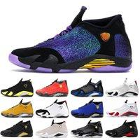 Doernbeher 14 14S Мужская баскетбольная обувь Университет Университет Золотой пустынный песок Thunder Candy Cane Sports Мужчины Баскетбольные кроссовки Обувь 40-47