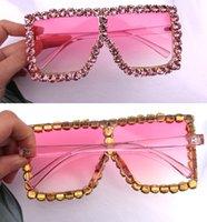 Sunglass ienfe جديد 400 occhiali مصممين مربع الشمس الماس الإطار 2020 نظارات الأزياء النظارات الشمسية النساء الزجاج المرأة luxtury uv htmos