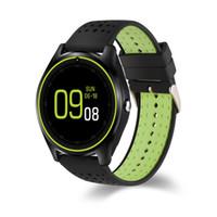 Для Apple iPhone V9 HR Смарт-часы с камерой Монитор сердечного ритма Bluetooth SmartWatch SIM-карта наручные часы для телефона Android