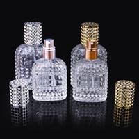 30ml 50ml Personalidade Transparente Bomba de vidro do pulverizador do curso vazio Frasco de perfume YD0511 portátil