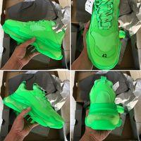 2019 뜨거운 파리 럭셔리 아빠 신발 플랫폼 트리플 S 크리스탈 남성 여성 Kanye 올드 할아버지 Trai 60 하단 트리플 S 레저 신발