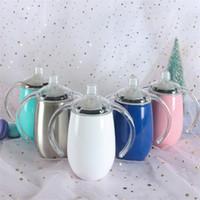 13 Farben Flasche 10 Unzen Vakuum isoliert Sippy Cup Edelstahl Tumbler Doppelwand Wasser Tassen mit Griff für Kinder