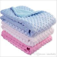 Guisantes de bebé manta del lecho de la manta del sofá para niños de espuma suave Mantas Las alfombras del saco de dormir infantil Mantas sólidos toallas de baño Wrap TLYP506