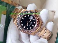 BP fábrica nova qualidade luxo mens relógio 40mm gmt 126715 126711 126711Chnr 126711Chnr cerâmico suíço ETA 2813 movimento automático