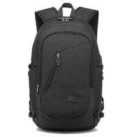 Rugzak USB Opladen Rugzakken met Hoofdtelefoon Jack Business Laptop Mannen Travel School College Bag