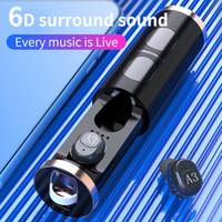 Nubsup Nidelex Bluetooth V5.0 Écouteur sans fil Vrai Stéréo sans fil Bluetooth Bluetooth Casque Bluetooth A3 TWS Mini Écouteur de sport avec boîte de chargement