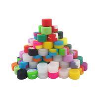 30pcs / lot grossaltel-3ml barattoli in silicone non-stick non-stick dab olio di cera contenitore con forma rotonda 26mmx17mm colore solidnonsolid