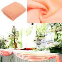 10m color melocotón * 1 .35m Organza Swag de tela decoración de la boda del fondo de pantalla cortina decoración del partido Tabla Skitr Suministros