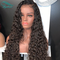Long Curly Glueless Lace Front Wigs Pre Plucked Hairline wit...