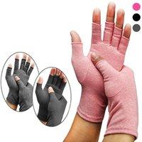قفازات النساء المفتوحة أصابع ضغط رجال أزياء قفازات العلاج الإغاثة القطن مطاطا اليد الألم حزب مهرجان هدية TTA1222-14