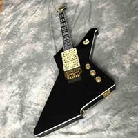 جراند مخصص لمعان عالية الأسود تدمير يوفر دوبلكس نظام اهتزاز العادة المتخصصة يلعب 6 سلسلة الغيتار الكهربائي