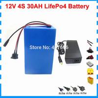 12v 30ah lifepo4 Batterie 12V 350W 12V 30000MAH Batterie 12 V 30000MAH lifepo4 Batterie mit Ladegerät BMS 14.6V 3A Kostenlose Zollgebühr