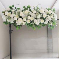 100CM مخصصة الفاوانيا إمدادات ترتيب الزهور في حفل زفاف جدار الحرير الزهور الاصطناعية الديكور صف الحديد زفاف قوس خلفية