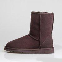 2022 Топ моды снежные ботинки короткие мини классические колено высокие женские зимние дизайнер лук лодыжки две бабочки темно-синий меховой меховой ботинок размером 36-41