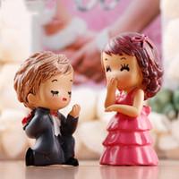 1 paire couple décoration de mariage Proposition Moss Micro Paysage Ornements Résine Décoration Groom Bride Petite décoration Artisanat