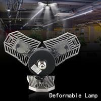 60W Led Deformabile Lampada Garage E27 LED Lampadina a mais Radar Illuminazione domestica Parcheggio industriale ad alta intensità Lampada da magazzino