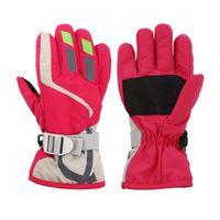 2019 зима Спорт на открытом воздухе Дети Лыжные перчатки Езда перчатки сгущает Альпинизм Теплые перчатки Водонепроницаемый Non-Slip оптом