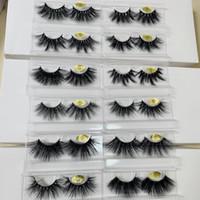25 mm langen 3D Nerz Wimpern Haare falsche Wimpern Wimpernverlängerung Version von Hand 10 Sätze freies Verschiffen zu machen