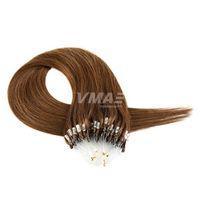 VM Micro Loop Haarverlängerungen seidige gerade 1g / Strang 100g 150g brasilianische Menschenhaar Mikroring Links Haarverlängerungen