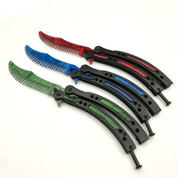 Paslanmaz Çelik Styling Eğitim Combs Kelebek Bıçak Uygulama Saç Fırçaları Salon Kuaför Katlanır Saç Giyotin Serin UN884
