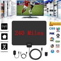 1080P 50 Miles 25dB numérique HD VHF UHF HDTV TV intérieure Amplified signal d'antenne Vente chaude