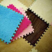 30 * 30 cm niños Alfombra de espuma EVA Puzzle Mat alfombras Shaggy terciopelo bebé Eco Floor7colors para sala de tapetes para vivir Casa Sala #TX