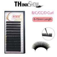 B / C / D Volumen Curl pestañas de extensión de las pestañas de seda de Corea Rusia 3D Falso pestañas de visón color natural pestañas sintéticas