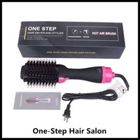 One Step Asciugacapelli Pennello e Volumizer Colpo raddrizzatore e bigodino salone 4 in 1 rullo Electric Hot Air Curling Iron pettine