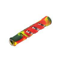 새로운 유리 FDA 실리콘 한 타자 담배 흡연 허브 파이프 호스 90MM 담배 홀더 통나무 파이프 담배 허브 파이프 봉 액세서리
