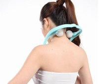 바디 넥 마사지 어깨 뒤로 허리 마사지 블루 컬러 릴랙스 뷰티 건강 도구