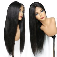 Lace Front wigs Full Lace Wigs straight Pre Plucked Natural ...