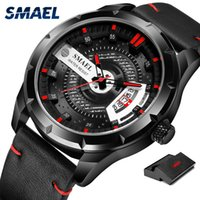 2020 SMAEL Sport Mens Montres Haut Marque Montre de quartz de luxe Hommes Fashion Steel Steproof SL-9011 Watch Hommes Relogio Masculino
