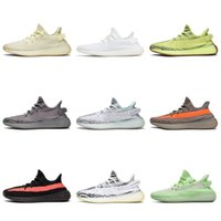 Adidas Yeezy 350 V2 Boost Hommes Femmes Chaussures de course Static Réfléchissant Noir GID Argile Rose Hyperspace FROZEN YELLOW BELUGA True Form baskets formateur