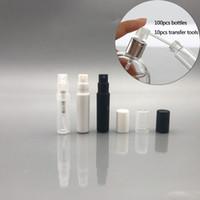 Atomizador redondo pequeno do recipiente cosmético plástico da amostra da garrafa 2ML / 2G Recarregável Atomizador redondo pequeno do recipiente cosmético mini para a amostra mais macia da pele da loção