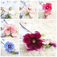 Fiori Artificiali Magnolia fiore di seta Mazzi Mariage falsificazione fiore decorativo Fiori festa nuziale della 6 colori opzionale CYL-YW4061