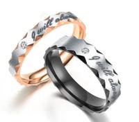 ANELLO ROMANTICO ANELLO DI DIFFICIO DETO ANELLO IN ACCIAIO IN ACCIAIO ACCIAIO Aspetterò sempre che gli anelli di nozze della promessa di Lover