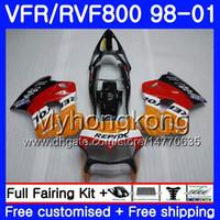 Körper für Honda Interceptor VFR800R VFR800RR 98 99 00 01 259HM.0 VFR800 VFR 800RR VFR 800 RR 1998 1999 2000 2001 Verkleidungsset Repsol Orange