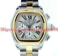 Alta calidad para hombre XL W62027Z1 Fecha reloj 18K y oro y acero cronógrafo movimiento de cuarzo para hombre Relojes