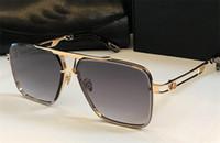 Top Occhiali da disegno Occhiali da sole all'aperto lente in cristallo taglio telaio oro giocatore piazza K high-end di alta qualità con il caso