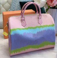 Newset cloud Arcobaleno Contrasto colori Borse Shopping bags Shoulder Bag Beach borse reale Borsello in pelle borsa Messenger borsa
