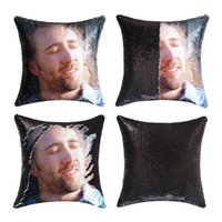 Nicolas Cage Con Air Paillettenkissen   Paillettenkissenbezug   Zwei Farbkissengeschenk für ihr Geschenk für ihn Magie